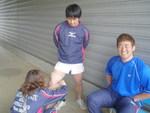 代田くんにテーピング!